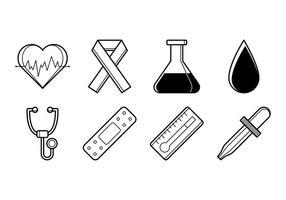 Vecteur d'icônes médicales gratuit