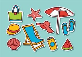 Vecteurs d'autocollants de plage gratuits vecteur