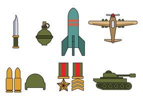 Vecteur d'icône de la Seconde guerre mondiale