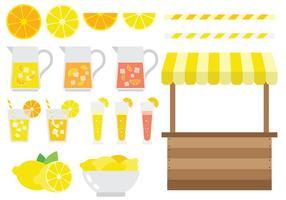 Vecteur d'icônes de stand de limonade gratuit