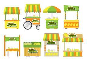 Icônes du stand de la limonade