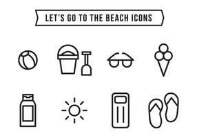 Icônes de plage vecteur