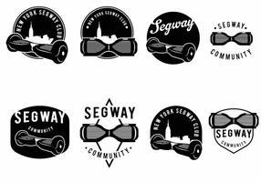 Ensemble de badge Segway vecteur