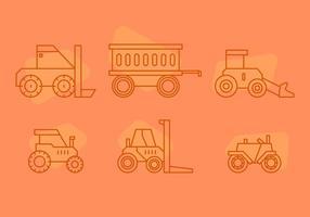 Vecteur de pneu tracteur gratuit 3