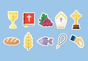 La libre communion gratuite - ensemble de matériel vectoriel