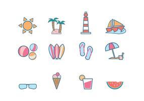 Vecteur icône de plage gratuit