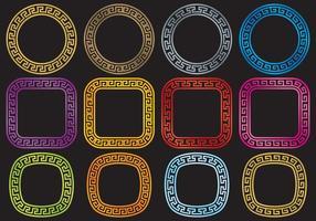 Clés grecques circulaires vecteur