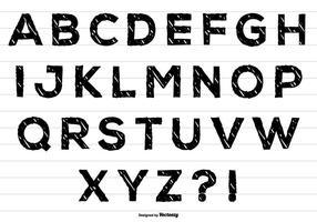 Mignon alphabet désordonné vecteur