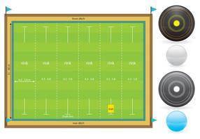 Lawn Bowl Court and Items vecteur