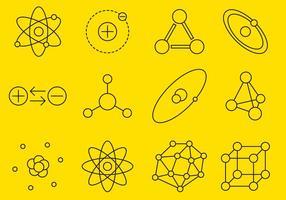 Icônes de ligne Atom