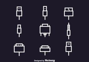 Ensemble d'icônes de câble vecteur