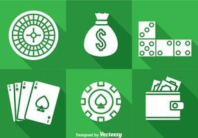 Icônes de Casino Long Shaow vecteur