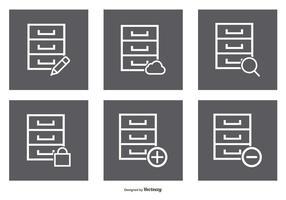 Ensemble d'icônes de l'armure de fichiers vecteur