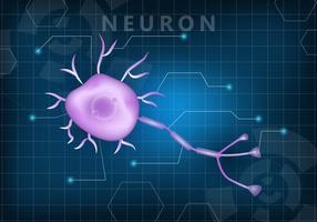 Vecteur de fond d'écran neuronale