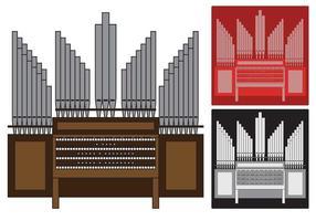 Illustration d'organe de pipe vecteur