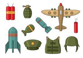 Icônes gratuites de la Seconde guerre mondiale vecteur