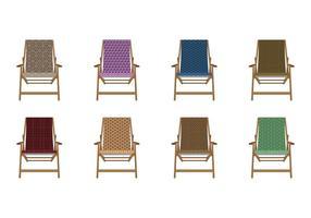 Vecteur de chaise de pont en toile de motif gratuit