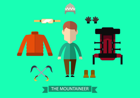 Vecteur d'alpiniste gratuit