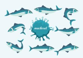 L'illustration vectorielle des poissons de maquereau vecteur