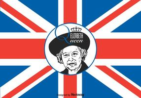 Illustration vectorielle Queen Elizabeth gratuite vecteur