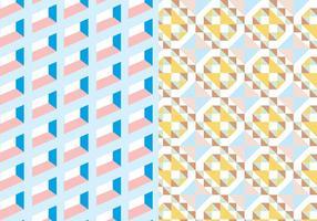 Motif géométrique carré en pastel vecteur