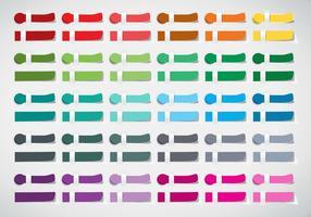 Colour Swatches Publicité Sticker Design Vector