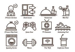Vecteur d'icônes de concierge gratuit