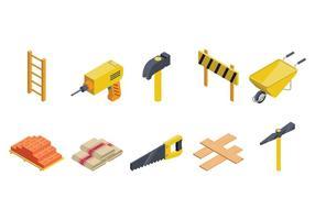 Vector Isometric Bricklayer gratuit