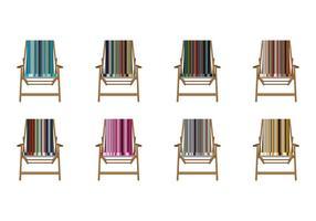 Vecteur de chaise longue en toile de rayures gratuites