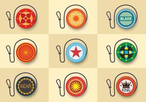 Yoyo icône de conception personnalisée à plat
