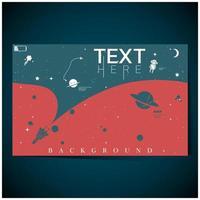 fond d'exploration de l'espace bleu, rouge