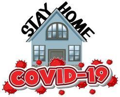 '' Restez à la maison '' Contexte Covid-19 vecteur