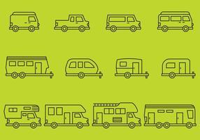 Icônes de camping vecteur