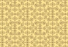 Motif géométrique du contour jaune vecteur
