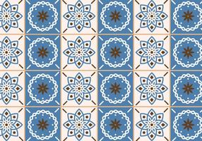 Tuiles beige et bleu