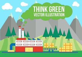 Free think green vector illustration