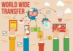 Transfert de vecteur gratuit dans le monde entier