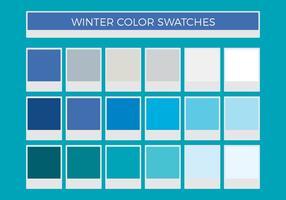 Swatches de couleurs vectorielles gratuites d'hiver vecteur