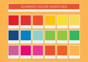 Échantillons de couleurs vectoriels gratuits d'été vecteur