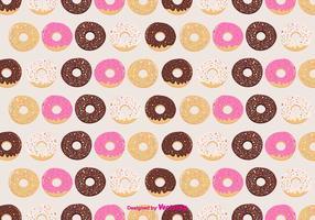 Contexte de motif vectoriel de donuts