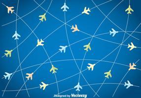 Fond de plan de vol vecteur