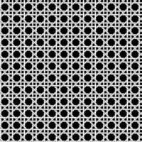 motif de tissage en treillis noir et blanc sans couture