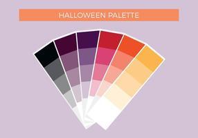 Palette de vecteur Halloween gratuite