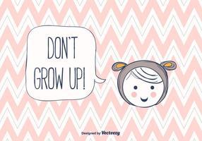 Ne pas grandir le vecteur de fond