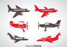Vecteur d'icônes d'avion