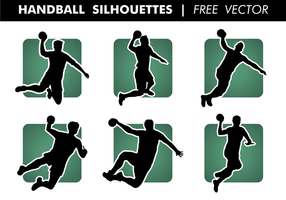 Handball silhouettes vecteur gratuit
