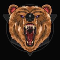 conception de tête d'ours grizzli vecteur