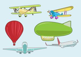 Divers Avion Vector