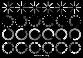 Ensemble vectoriel d'icônes précharger