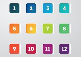 Vecteur de points de points carrés gratuits